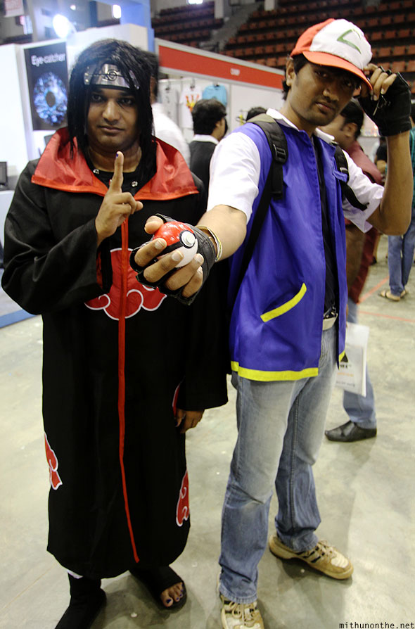 Naruto Pokemon Ash Comic-Con Bangalore