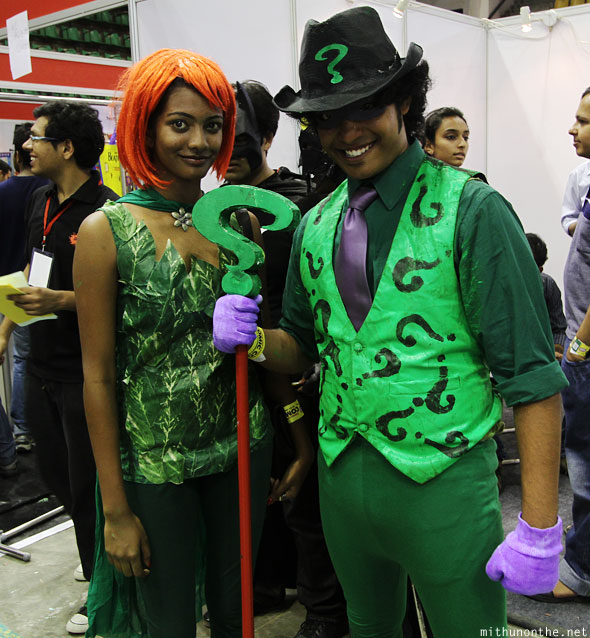 Poison Ivy Riddler cosplay Comic Con Bangalore