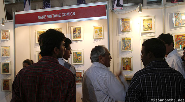 Rare vintage comics booth Comic Con Bangalore