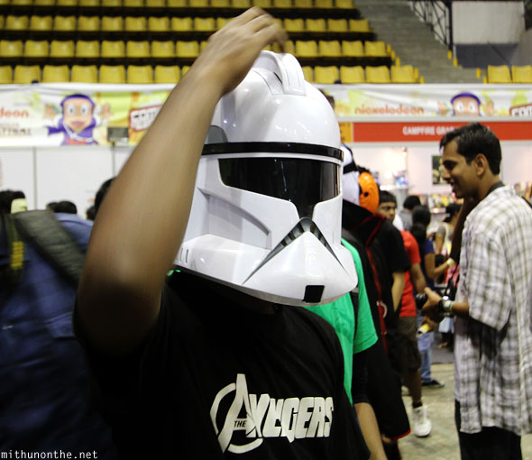 Stormtrooper helmet Comic Con Bangalore India