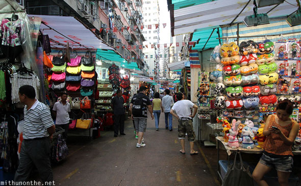 Temple street shopping stall Hong Kong