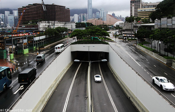 Underpass highway Kowloon Hong Kong