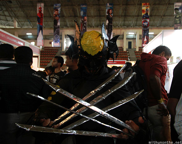 Wolverine blades cosplay Comic Con Bangalore