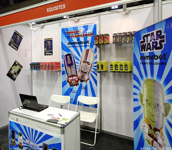 Xquisites mimobot booth Comic Con Bangalore