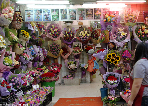 Bouquets flower market Hong Kong