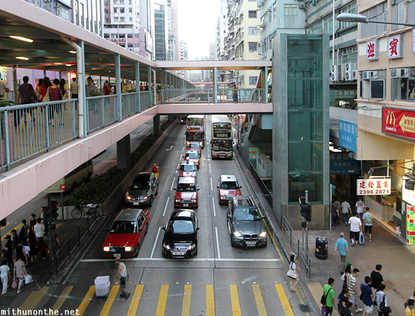 Hong Kong overbridge elevator