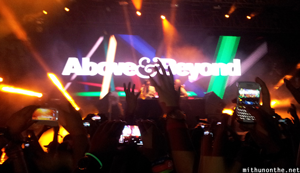 Above and Beyond stage group therapy