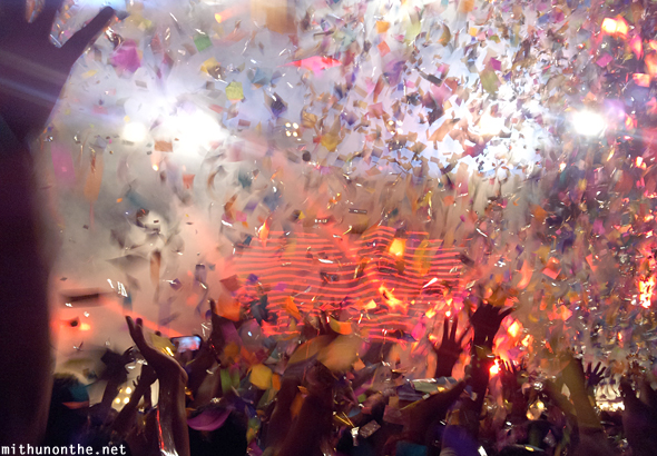 Above & Beyond confetti concert India