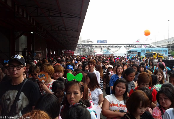 Crowd outside SCG Stadium Bangkok