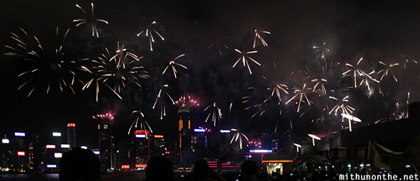 Fireworks Hong Kong harbour