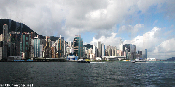 Hong Kong skyline from ferry