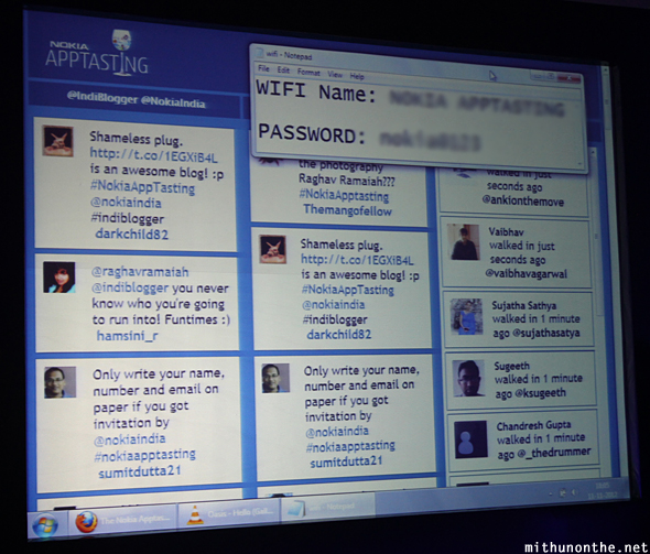 Indiblogger meet Twitter feed