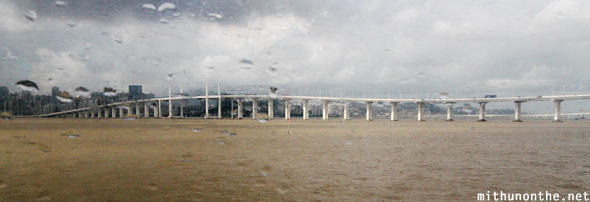 Macau bridge from ferry