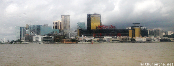 Macau casinos from ferry