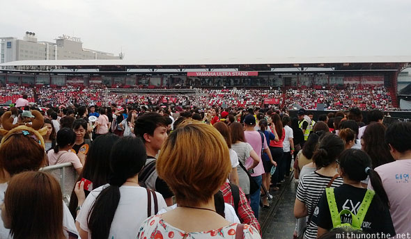 SM Town Bangkok crowd inside stadium