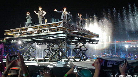 Super Junior raised platform SM Town