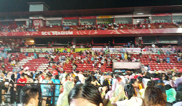Fans leaving SCG Stadium