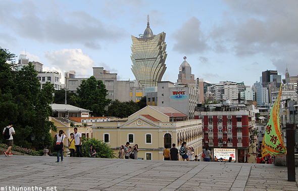 Grand Lisboa from Ruins of St. Paul Macau