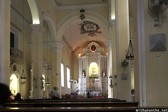 Inside St. Domingos church Macau China
