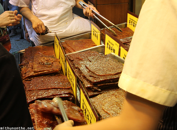 Jerky meat shop Macau