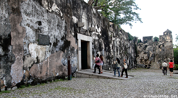 Macau fortress wall