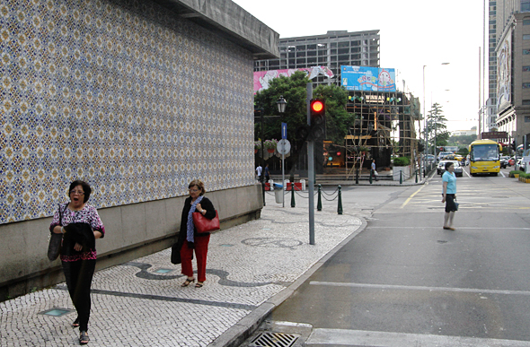 Macau tiled junction