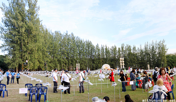 Maejo grounds crowd panorama