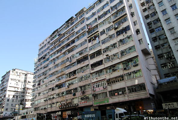 Old building Sham Shui Po Hong Kong