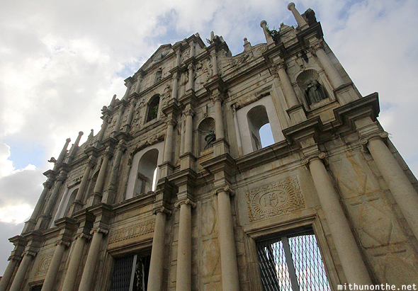 Ruins of St. Paul facade Macau China