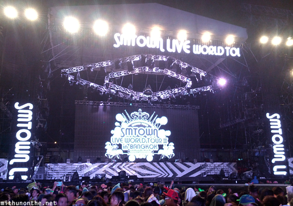 SM Town stage end of concert