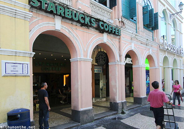 Starbucks coffee Senado square Macau