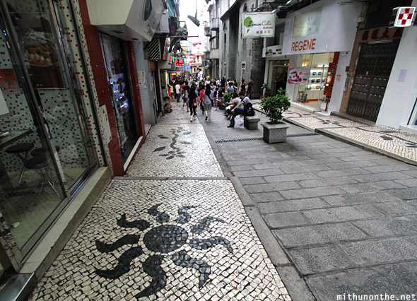 Stone pavement art design Macau China