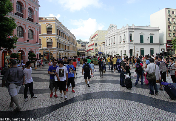 Tourists Senado square Macao China