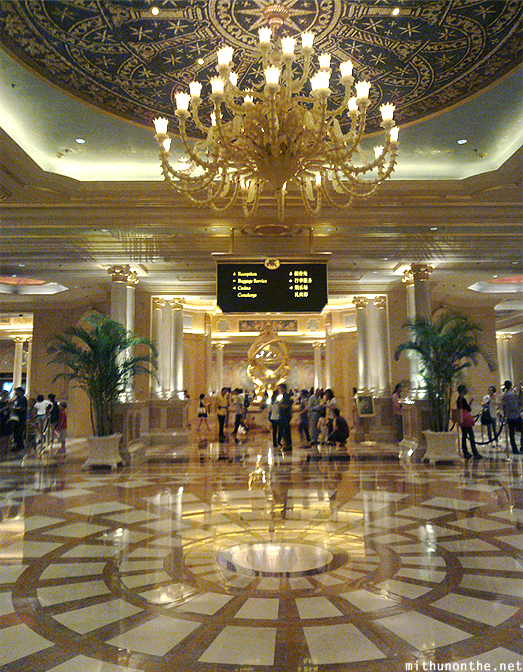 Venetian hotel lobby reception Macau China