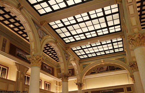 Venetian Macau glass ceiling piller arches