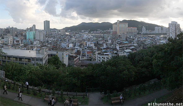View of Macau city from fortress panorama