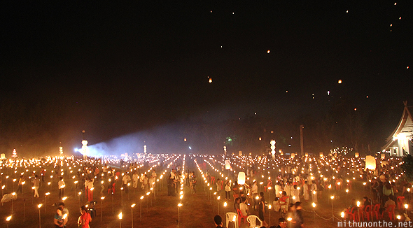 Yeepeng Lanna ground after lantern release