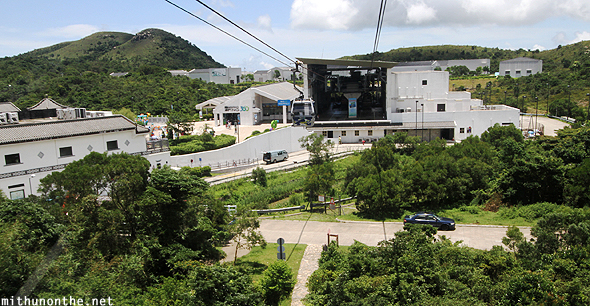 Arriving Ngong Ping cable car station