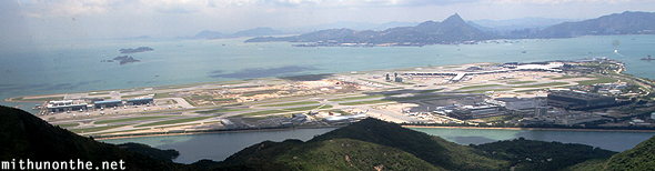 Chek lap kok airport view from cable car