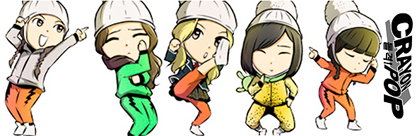 Crayon Pop anime members