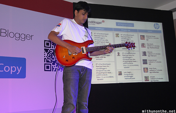 Guitarist HP Indiblogger meet Bangalore
