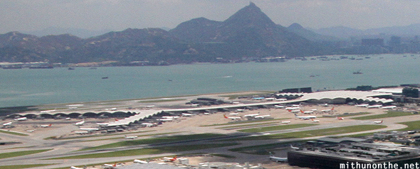 Hong Kong airport aerial view