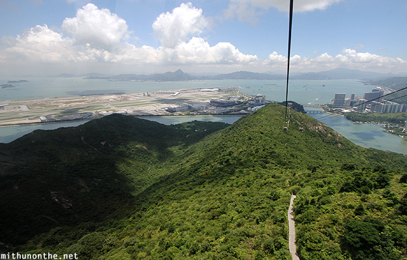 Hong Kong airport view from cable car