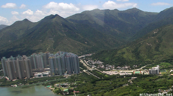 Lantau island apartments from cable car