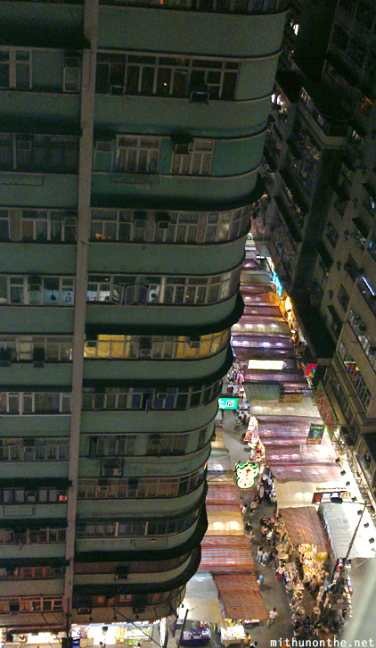 Mongkok market at night