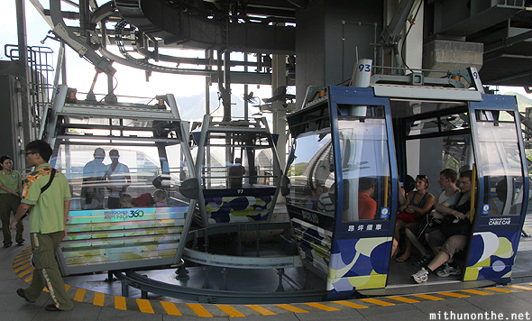 Ngong Ping cable car pods Hong Kong
