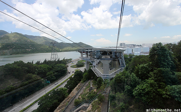 Ngong Ping cable car station Lantau