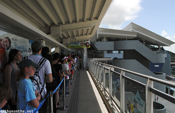 Queue Ngong Ping cable car Hong Kong
