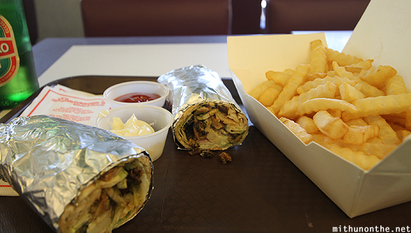 Shawarma roll fries Hong Kong