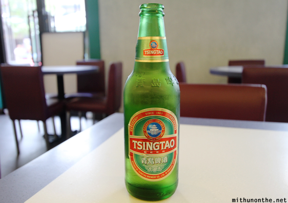 Tsingtao beer bottle Hong Kong